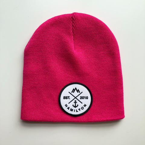 Toque - cuffless pink