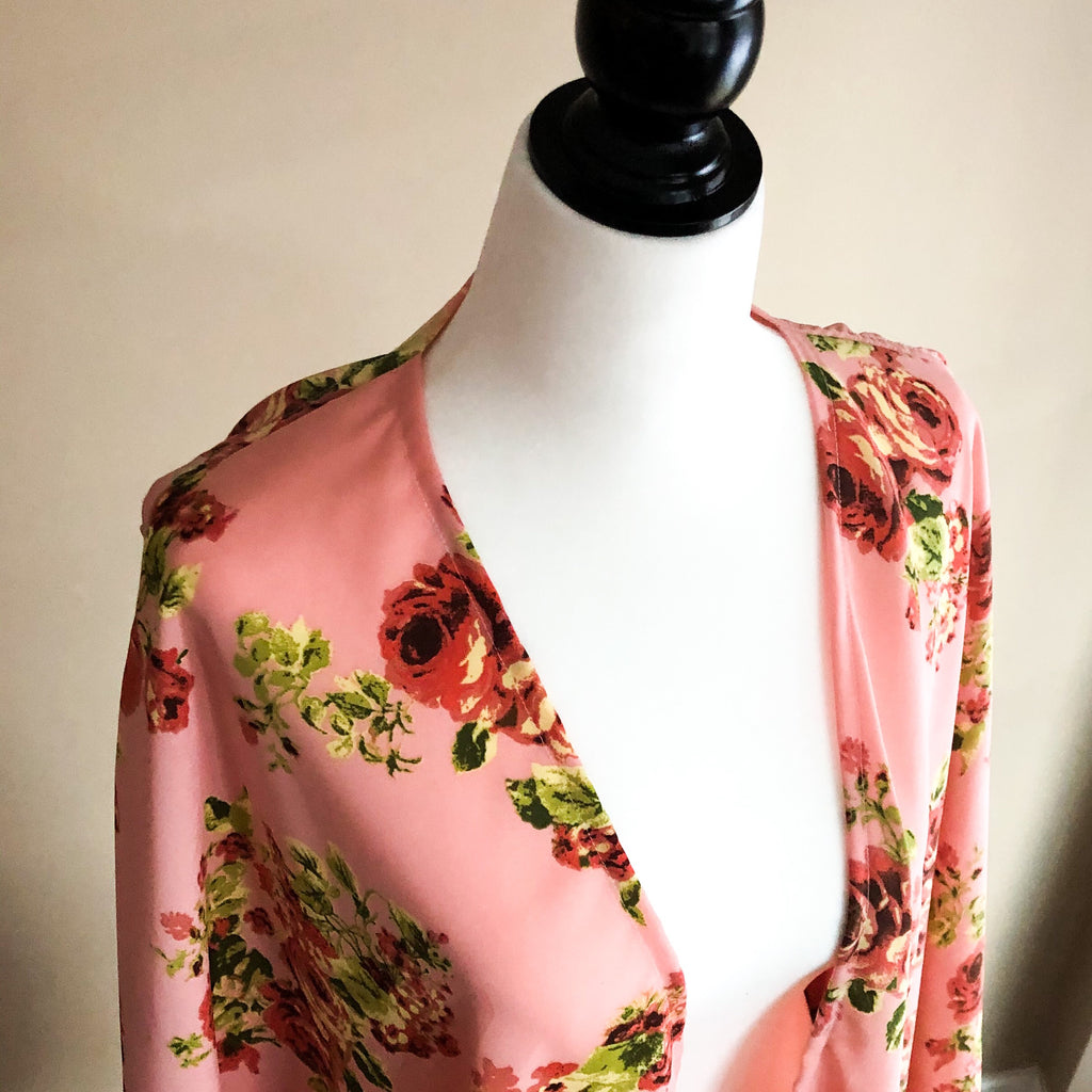 Tea Gown Floral pink