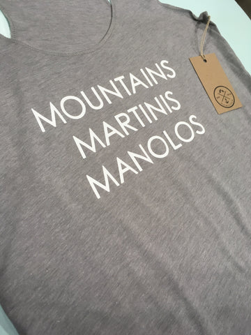 Mountains Martinis Manolos