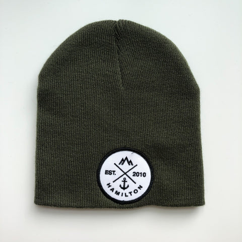 Toque - cuffless green