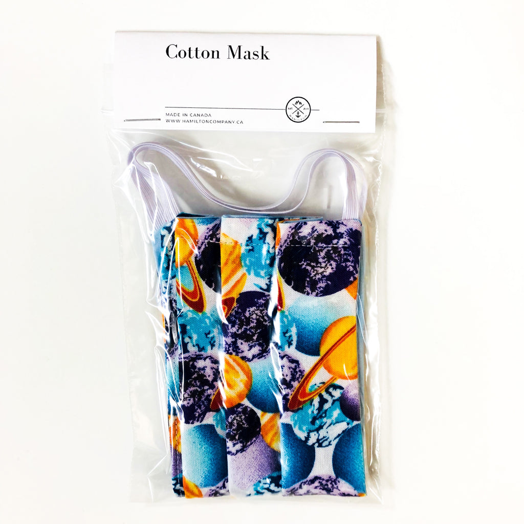 Planets - cotton mask