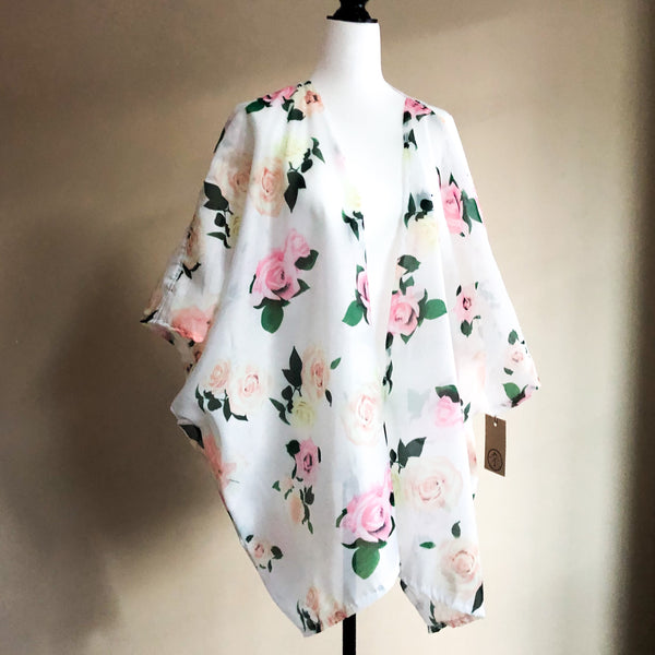 Tea Gown Floral white