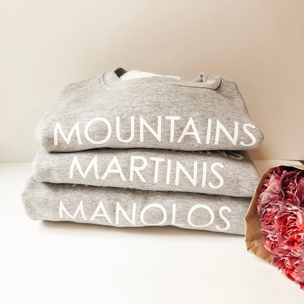 Mountain Martinis Manolos - Crew neck sweater