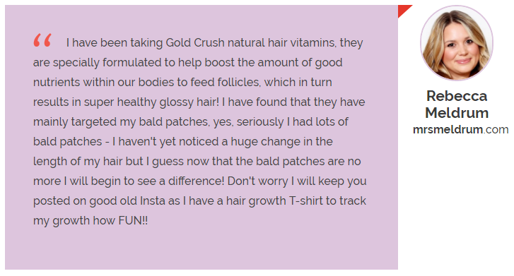 Rebecca GoldCrush Hair Vitamin Reviews