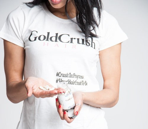 GOLDCRUSH HAIR GROWTH MEASURING T-SHIRT - GoldCrush