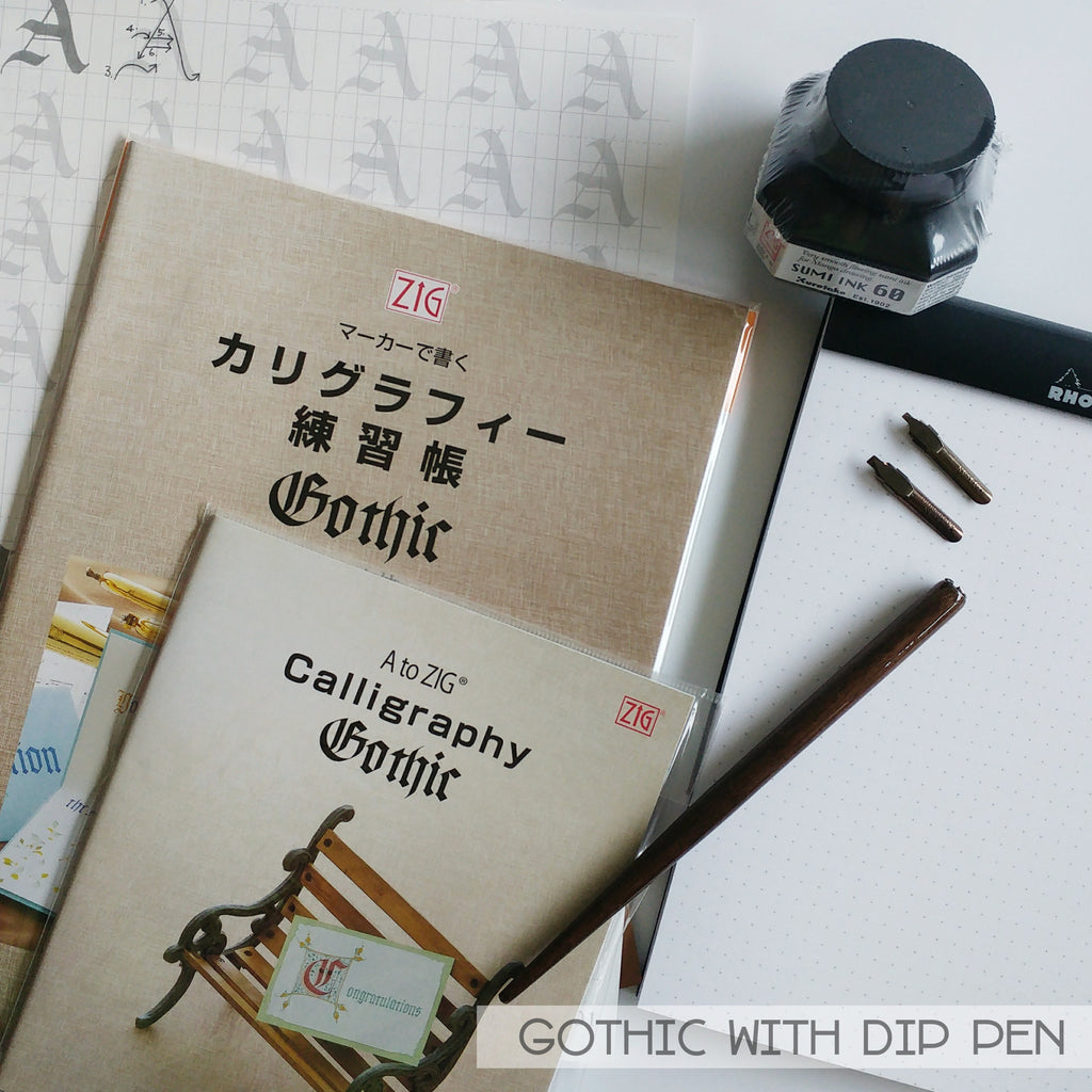 Calligraphy Supplies - Gothic (Dip Pen)