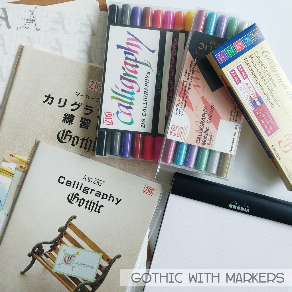 Calligraphy Supplies - Gothic (Markers)