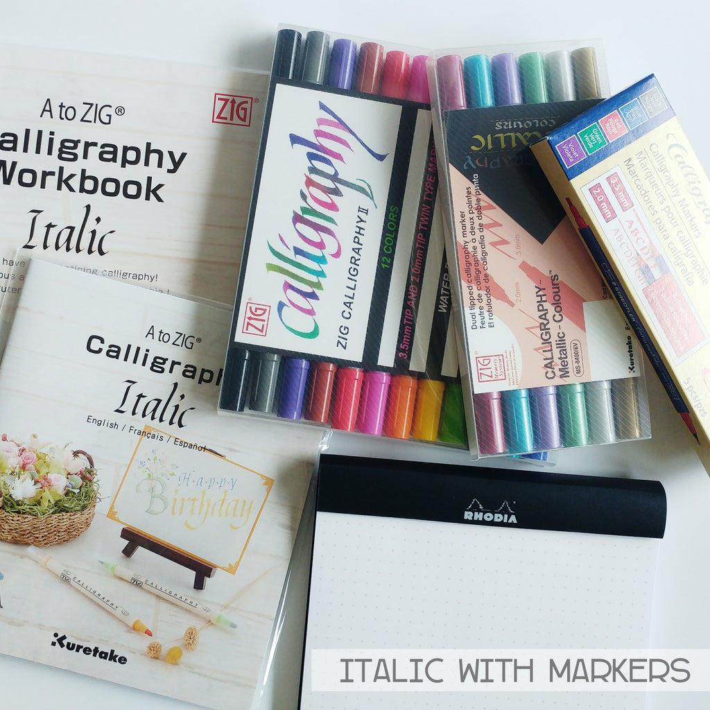 Calligraphy Supplies - Italic (Marker)