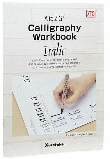 A to ZIG Calligraphy Workbook Italic