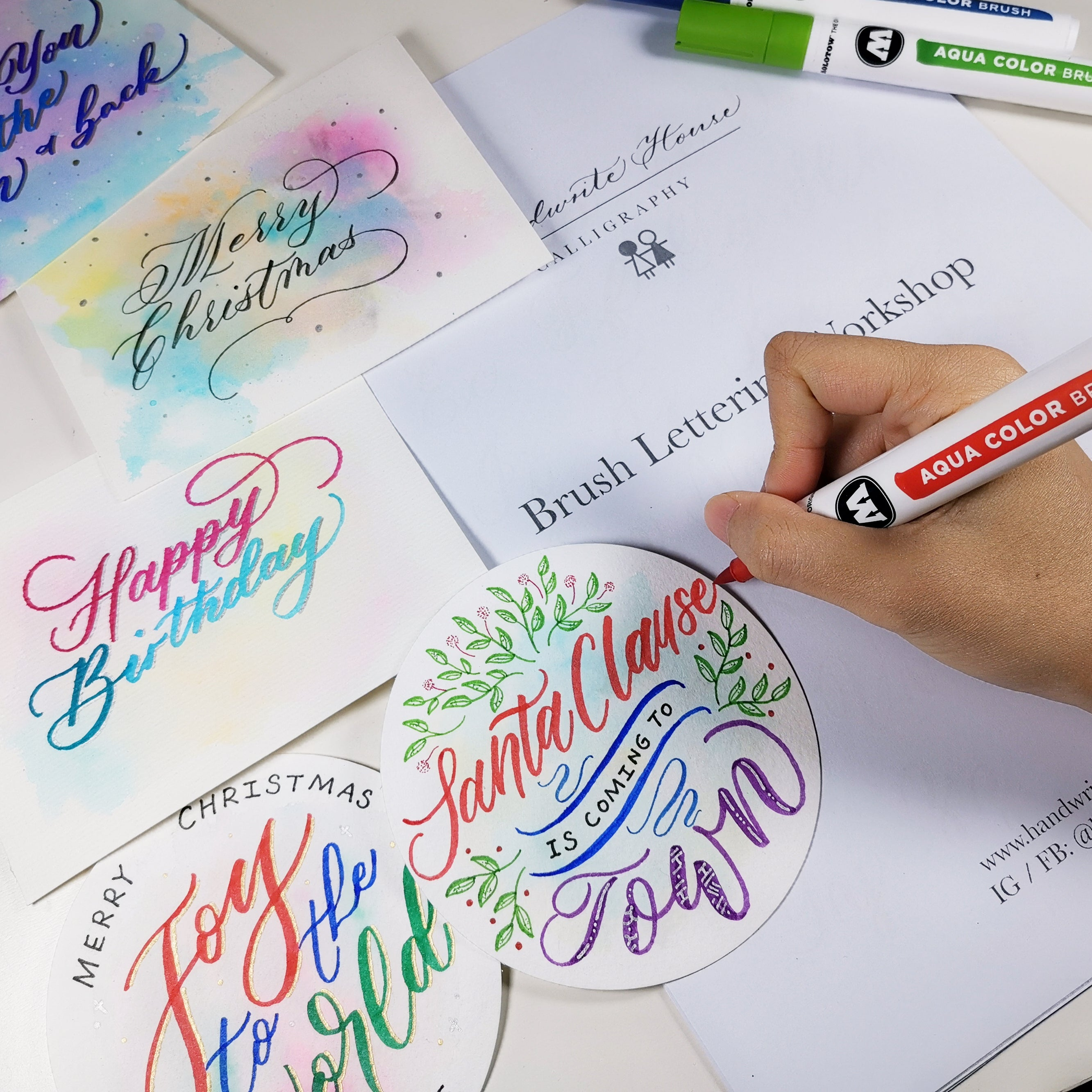 實體班 Brush Lettering Workshop - Handwrite House x Molotow HK 西洋書法班