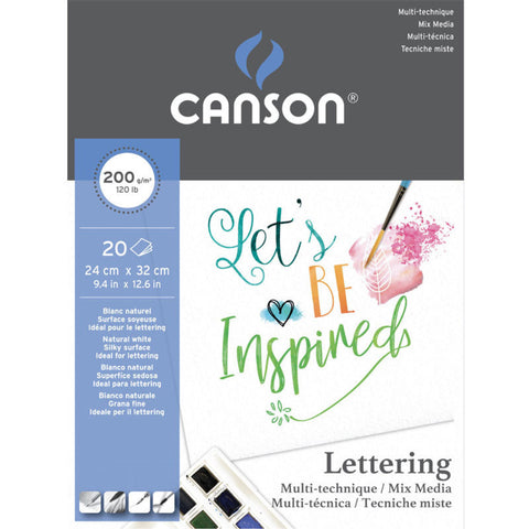 Canson Lettering Pad - Mix Media