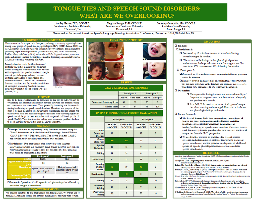 TalkTools | Tongue Ties and Speech Sound Disorders