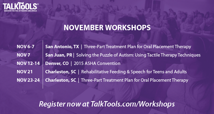 TalkTools November Workshop Schedule