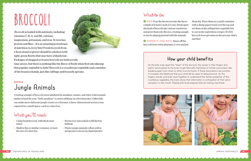 Adventures in Veggieland: Help Your Kids Learn to Love Vegetables with 100 Easy Activities and Recipes -  Talk-Tools