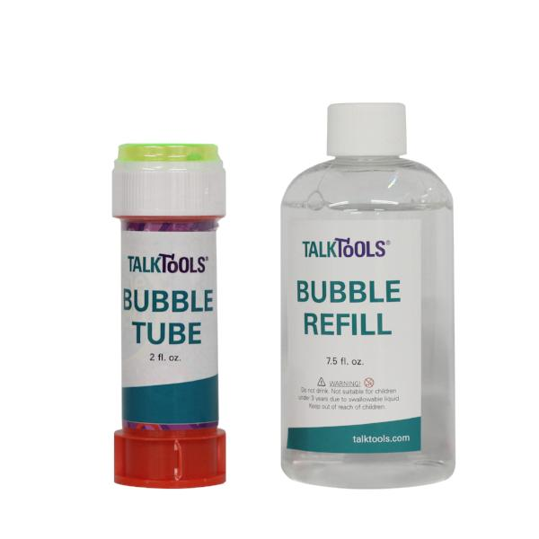TalkTools Bubble Tube and Refill - options Talk-Tools