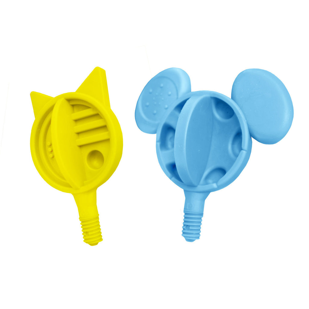 Hard Cat-n-Mouse Tip Combo (Yellow & Blue) -  Talk-Tools