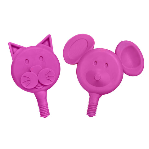 Soft Cat-n-Mouse Tip Combo (Magenta) - 2 Pack