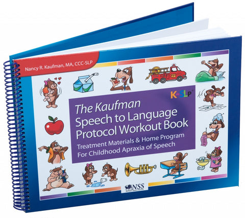 Kaufman Speech to Language Protocol Workout Book -  Talk-Tools