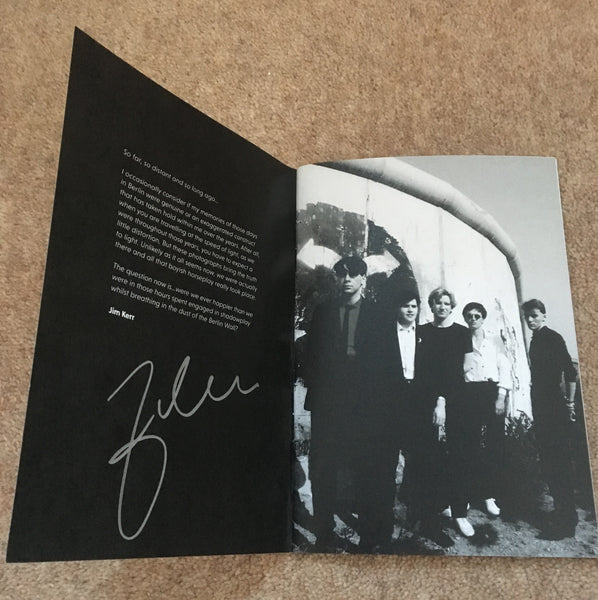 SIGNED SIMPLE MINDS BOOK