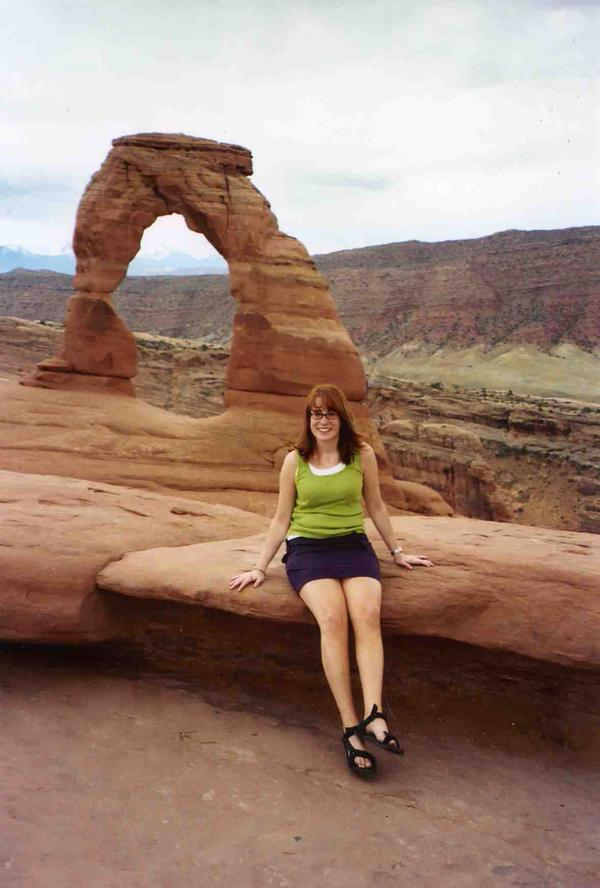 Kate in Arches National Park