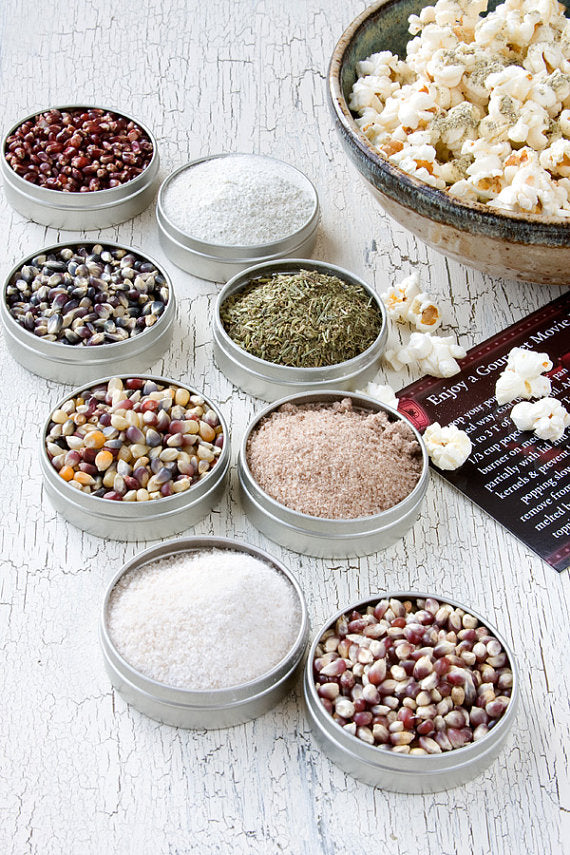 gourmet popcorn and seasoning kit by Dell Cove Spices