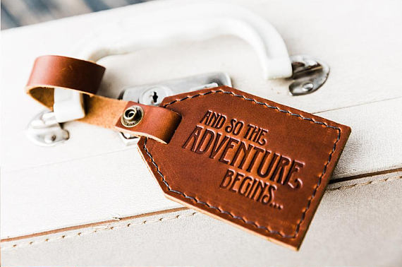 Portland Leather - Leather Luggage Tag