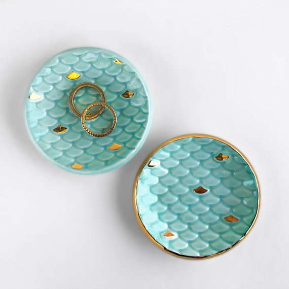 Mermaid Tail Ring Dish by Modern Mud