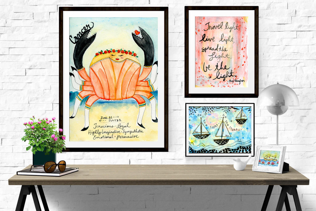 summer outdoor scenes in large art print format by Kajal of Wholesome Soul