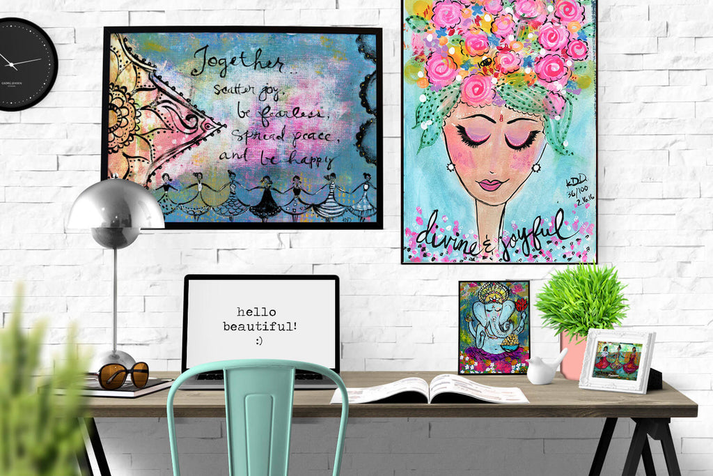 large art prints of spring scenes by Kajal of Wholesome Soul