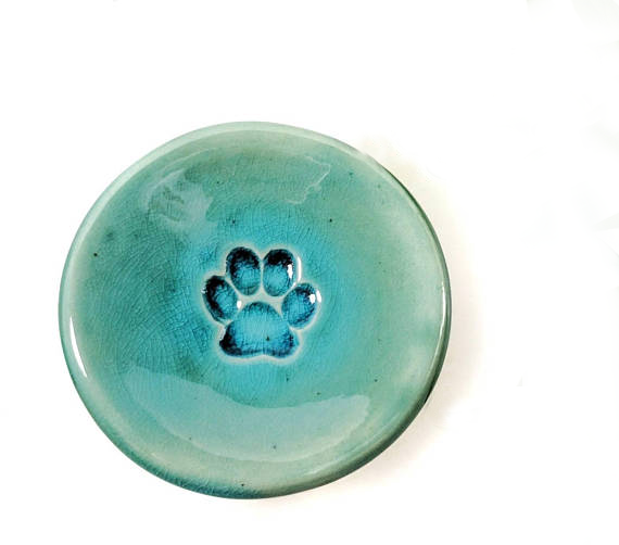 Turquoise Paw Ring Dish by MarieKennedyPottery