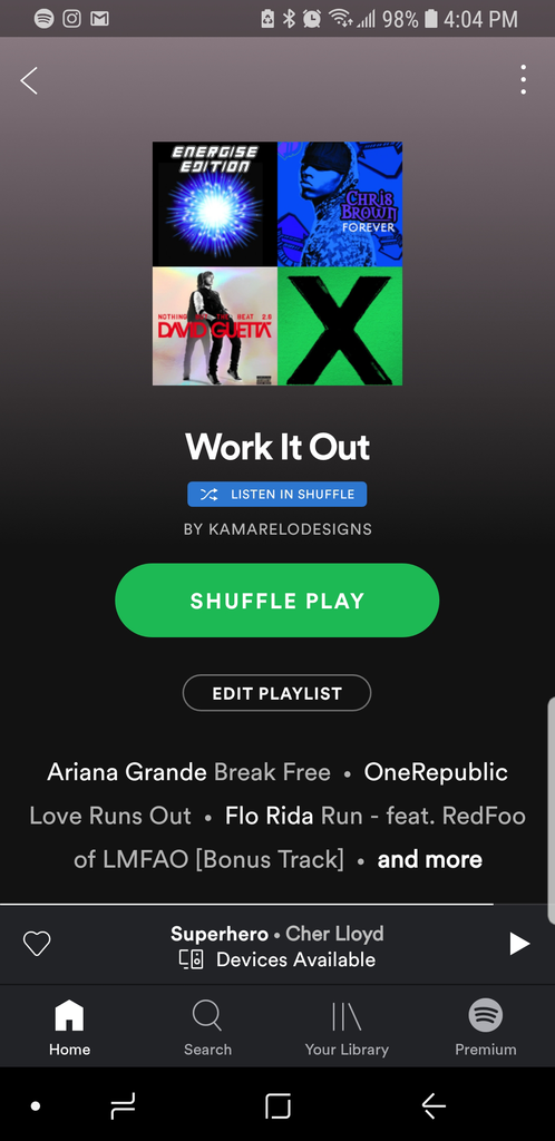 Work It Out Spotify Playlist