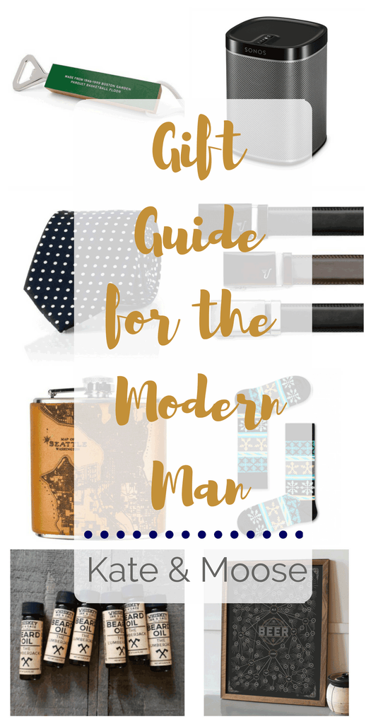 Gift Guide for the Modern Man curated by Kate and Moose
