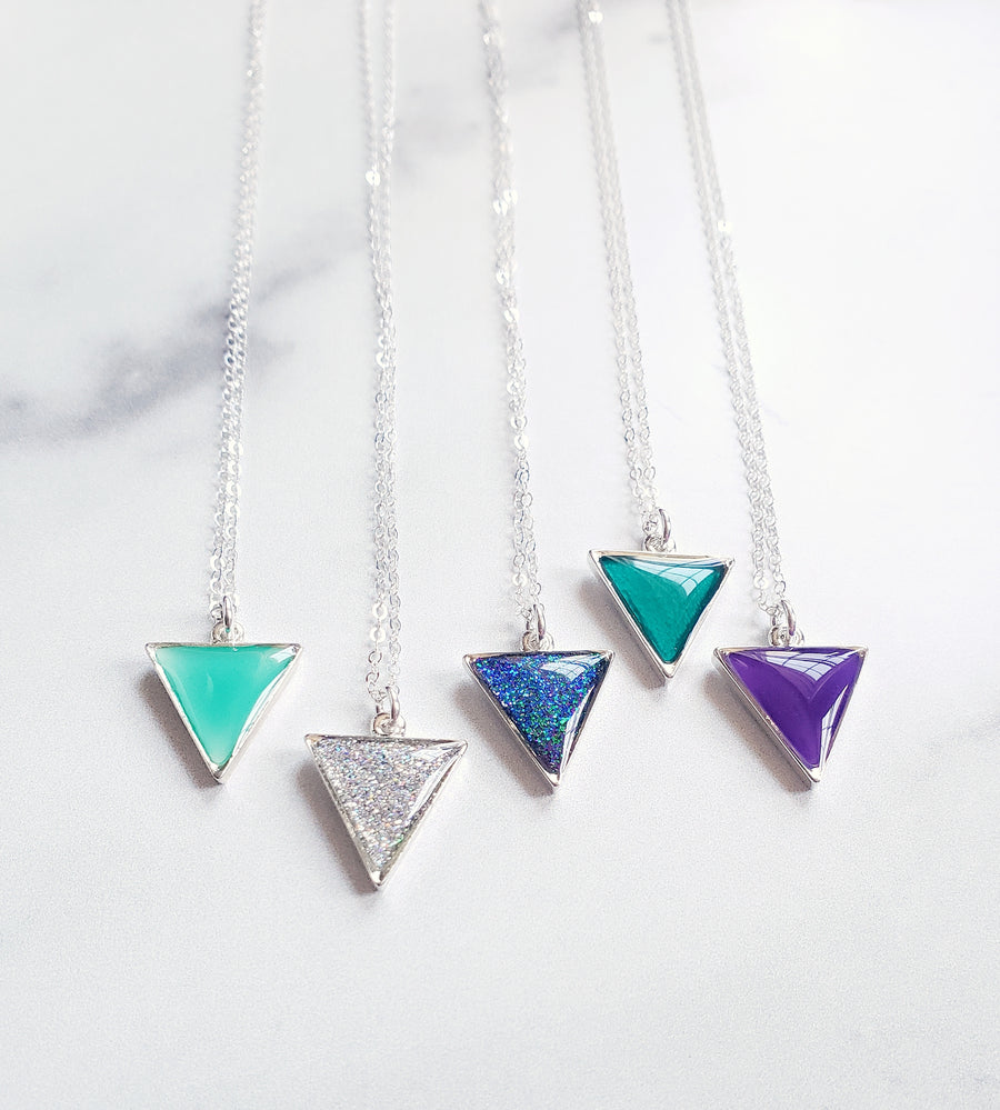 Uncompromising Strength Triangle Necklace