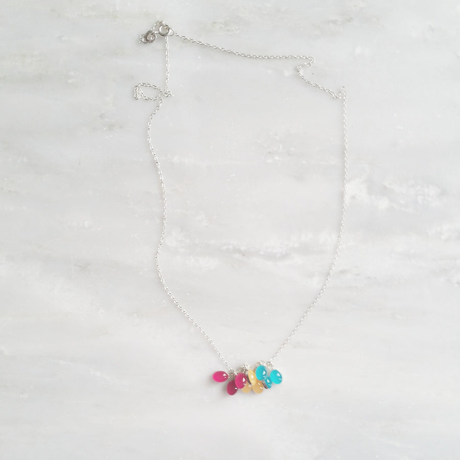 Statement Layering Necklace with Sterling Silver Chain