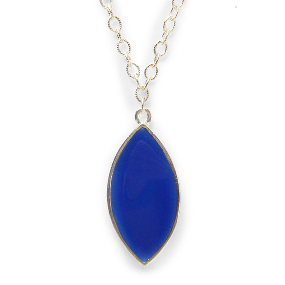 Azure Blue Marquis Statement Necklace by Kate and Moose