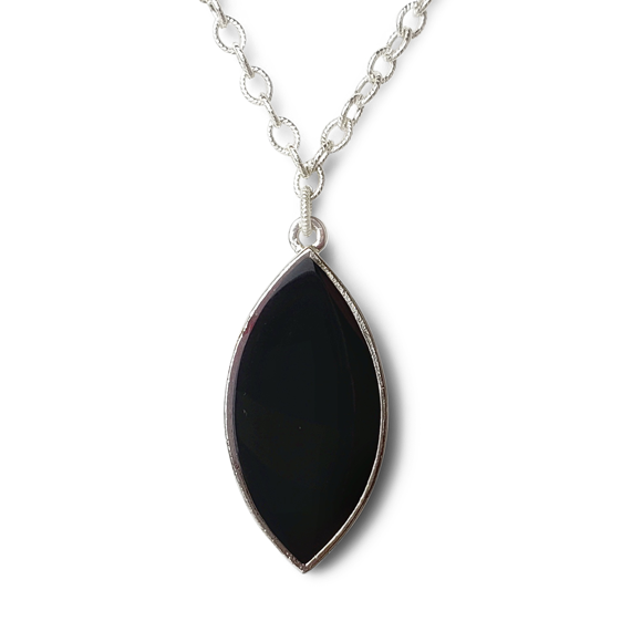 Black Marquis Statement Necklace by Kate and Moose