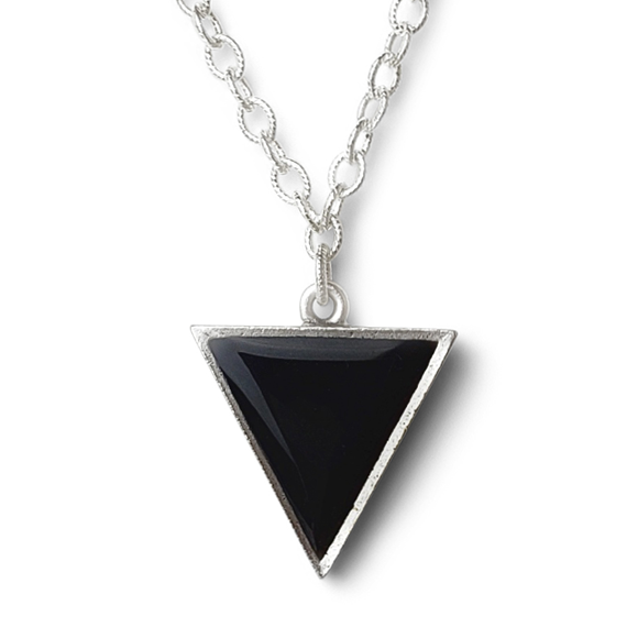large black triangle statement necklace by Kate and Moose