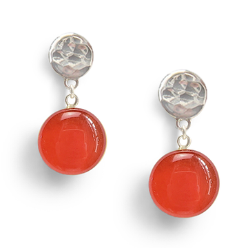 blood orange confetto drop earrings by Kate and Moose