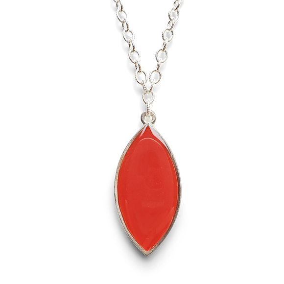 Blood orange Marquis Statement Necklace by Kate and Moose