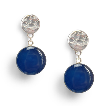 Blueberry Confetto Sterling Silver Drop Earrings