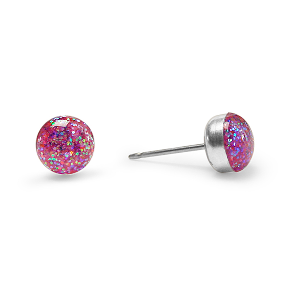 confetti glitter medium stud earrings by Kate and Moose