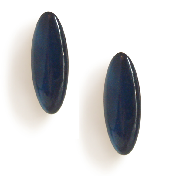 navy blue resin filled sterling silver earcrawler stud earrings by Kate and Moose