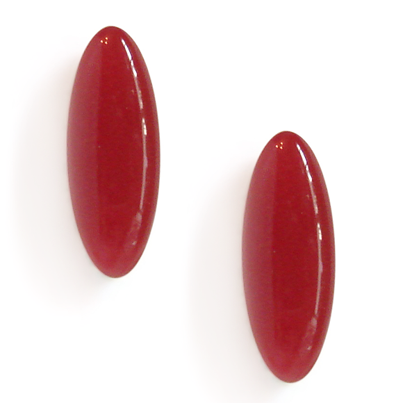 sangria red resin filled sterling silver earcrawler stud earrings by Kate and Moose