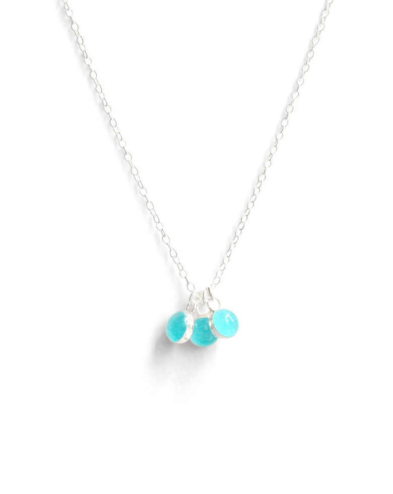 Kate and Moose island blue waters minimalist layering necklace