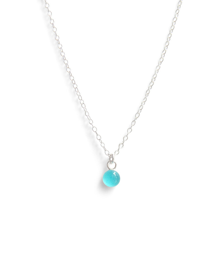 Kate and Moose island blue waters dainty layering necklace