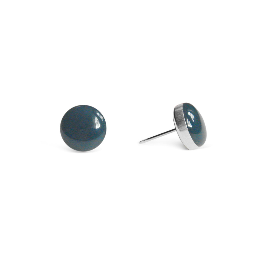 Ocean Teal Stud Earrings