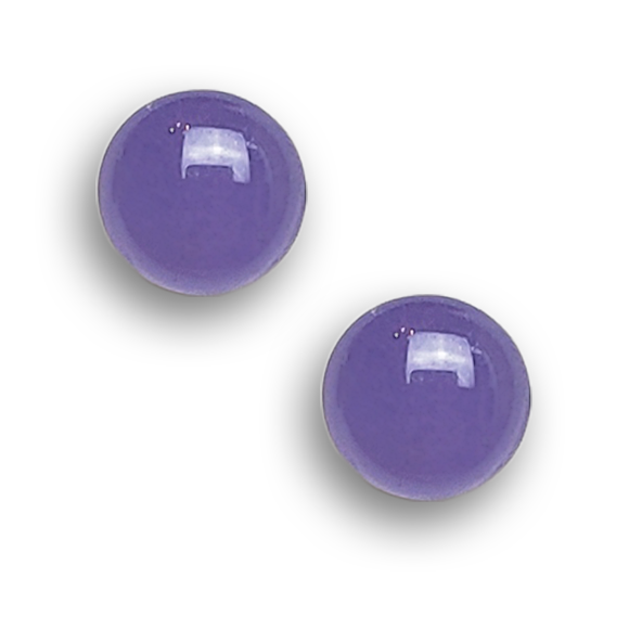 lavender small circle stud earrings by Kate and Moose