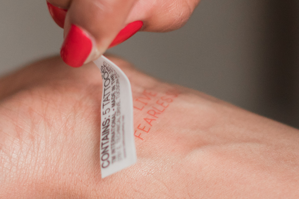 Temporary Tattoos - Inspirational Mantras by Kate and Moose