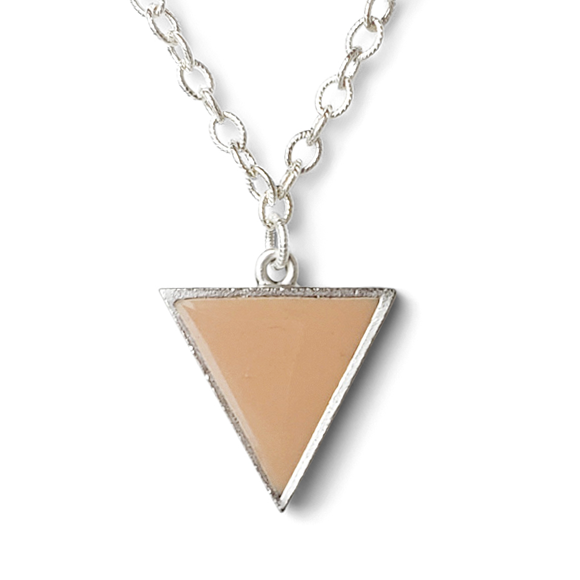 large nude triangle statement necklace by Kate and Moose