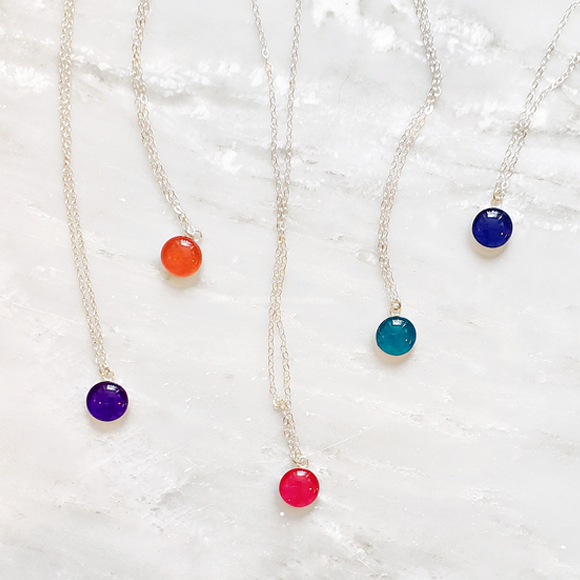 Confetto - Blueberry Small Layering Necklace